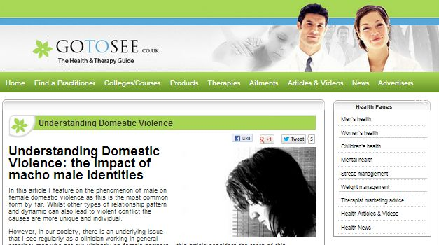 Article on Domestic Violence written by Alex Drummond
